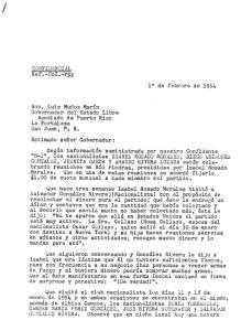 Salvador González, carta de Roig a LMM, 1ro feb 54