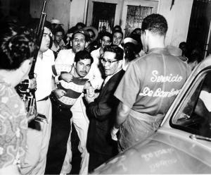 """Simulado arresto del traidor Salvador González Rivera, el """"N-1""""."""
